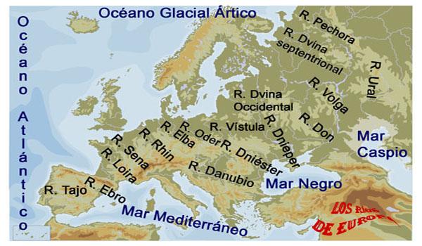 Rios De Europa Mapa Con Nombres.El Blog De Jonathan Los Rios De Europa