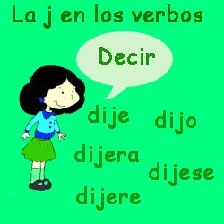 Resultado de imagen de la j en los verbos